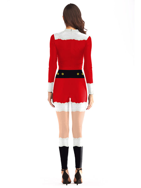 Christmas Jumpsuit Womens.Laceshe Women S Christmas Party Costume Bodycon Jumpsuit