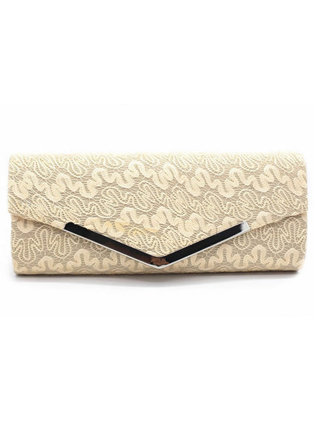 LaceShe Women's Magnetic buckle Delicate Lace Bag