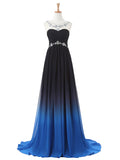 LaceShe Women's Stunning Round Collar Gown Dress