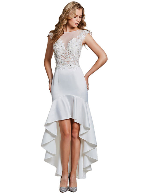 Laceshe Women's Mermaid Hi-lo Cocktail Dress