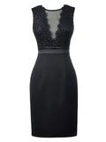 Laceshe Women's Sleeveless Pencil Cocktail Dress
