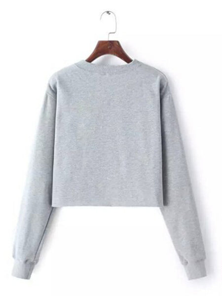 Laceshe Women's Baggy Casual Long Sleeve Pullover Sweatshirt