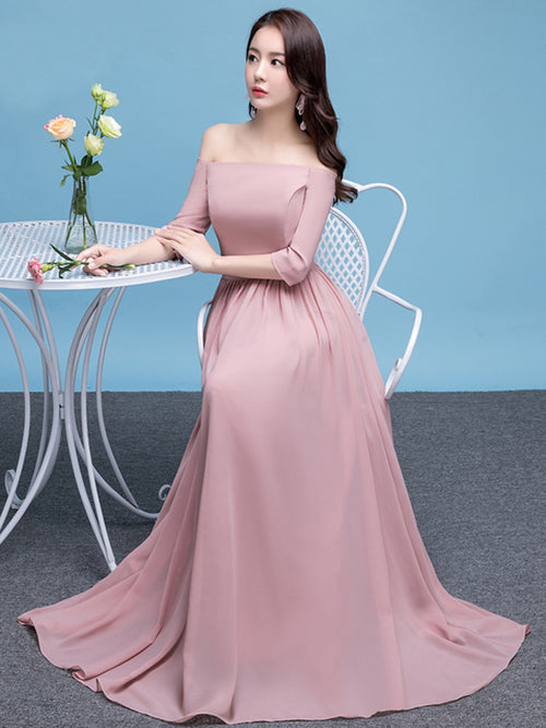 LaceShe Women's Fashion Strapless Off Shoulder Bridesmaid Dress