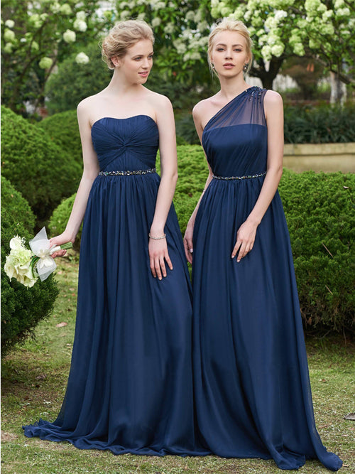 LaceShe Women's Stunning Sleeveless Long Bridesmaid Dress