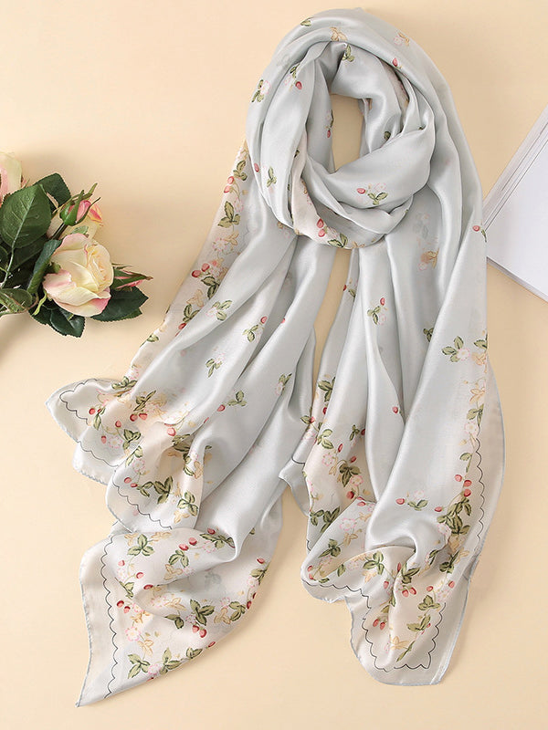 LaceShe Women's Floral Unique Design Scarf