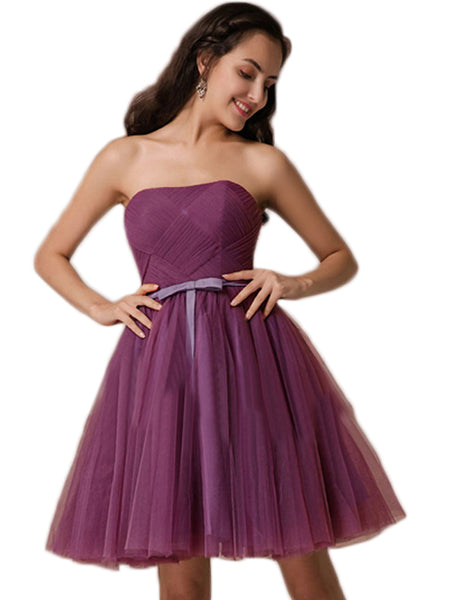LaceShe Women's Above Knee Length Evening Bridesmaid Dress