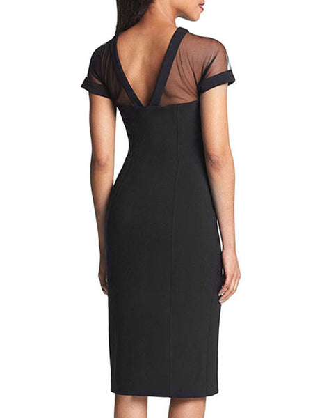 LaceShe Women's Deep V-neck Sexy Pencil Dress