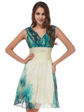 Laceshe Women's Gorgeous Green Gradient Bridesmaid Dress
