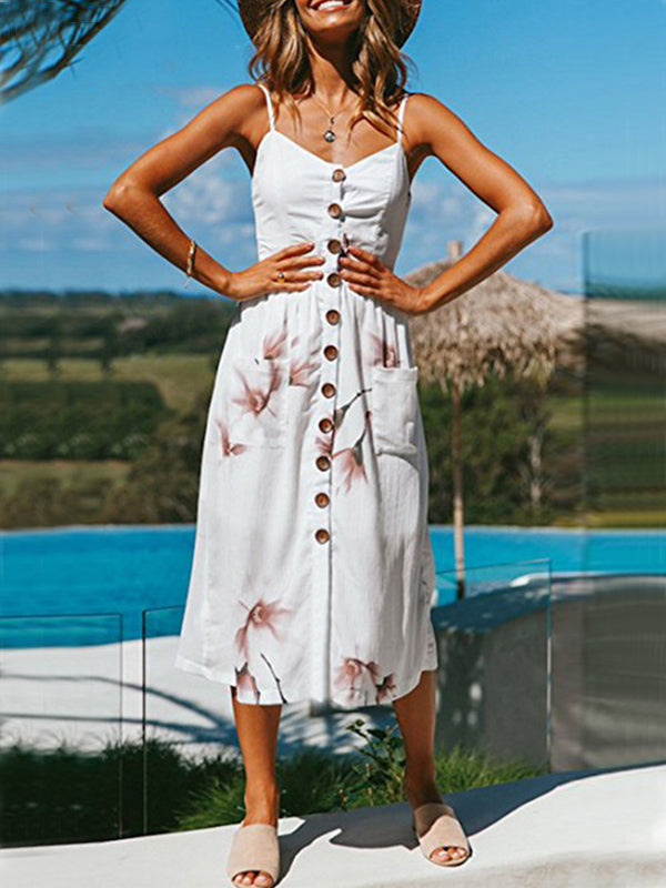 LaceShe Stunning Sling Long Beach Summer Dress