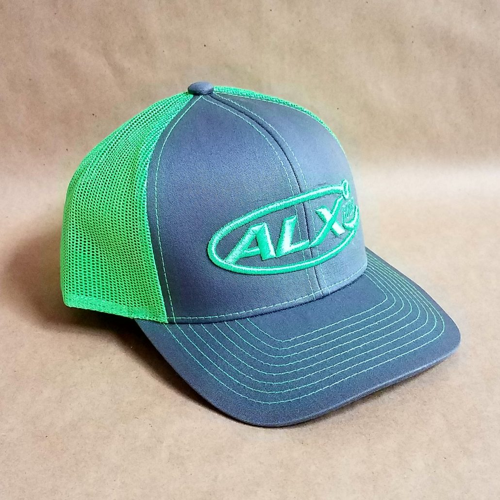 ALX Graphite/Neon Green Snapback Pacific Headwear Hat