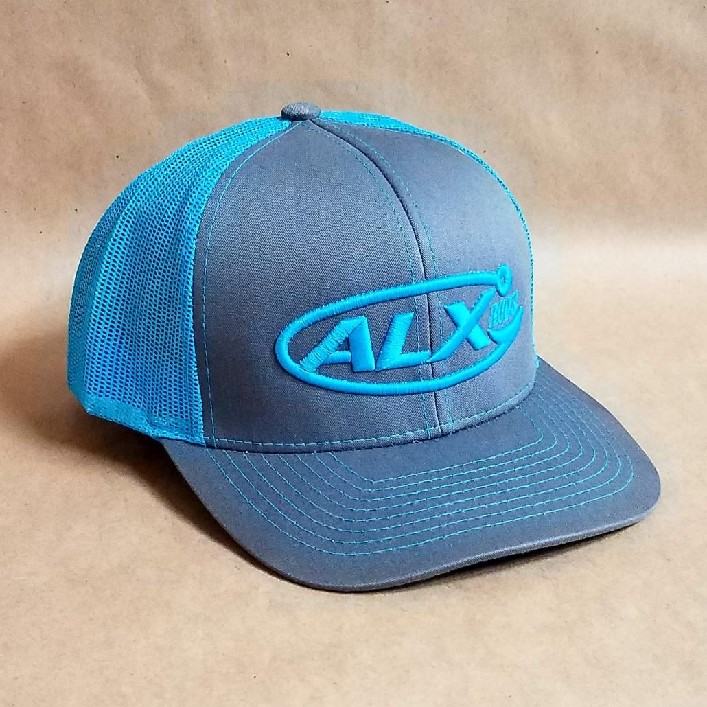 ALX Graphite/Neon Blue Snapback Pacific Headwear Hat