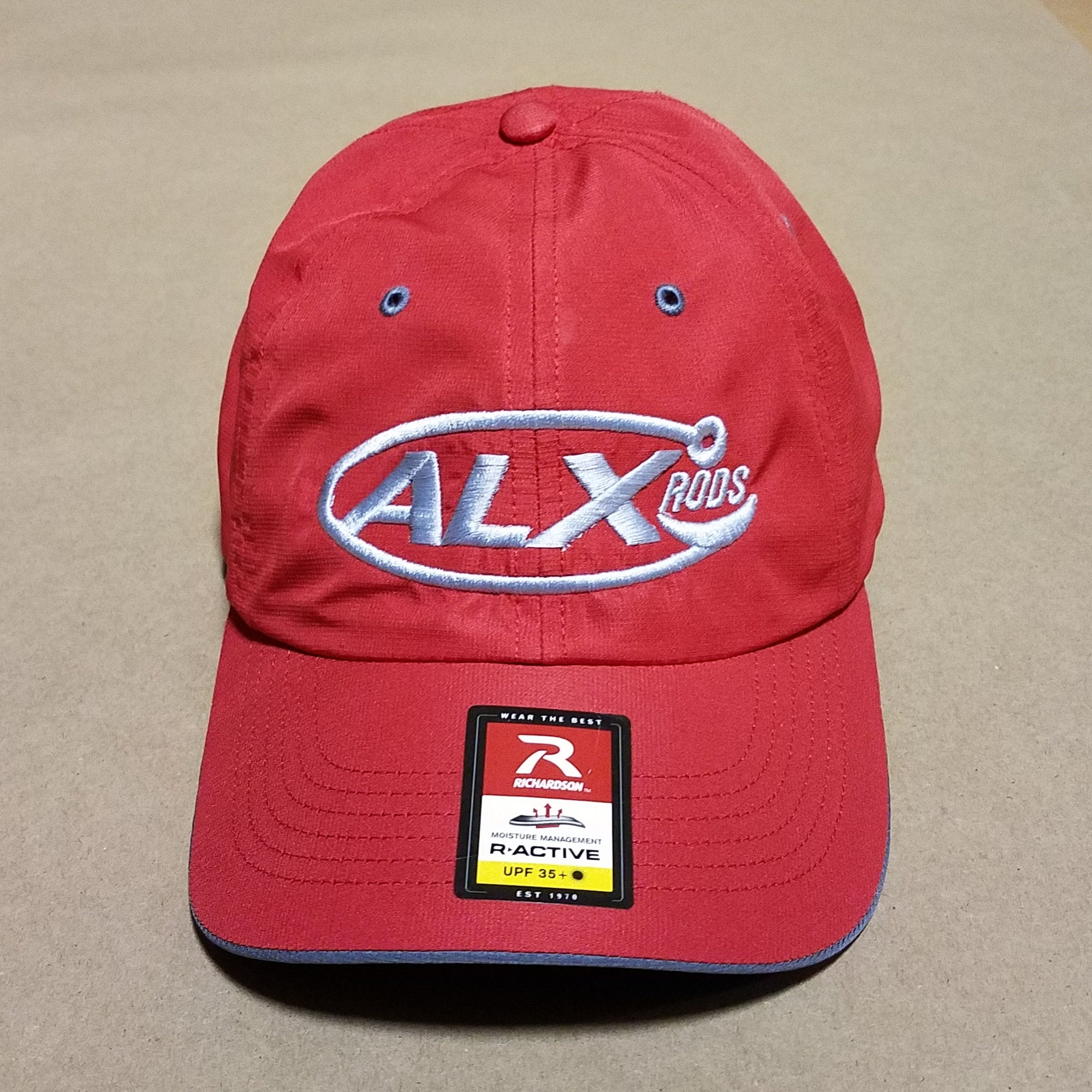 11ec7d530db48 ALX Solar Active StayDry UPF35 Cap - Red - ALX Rods