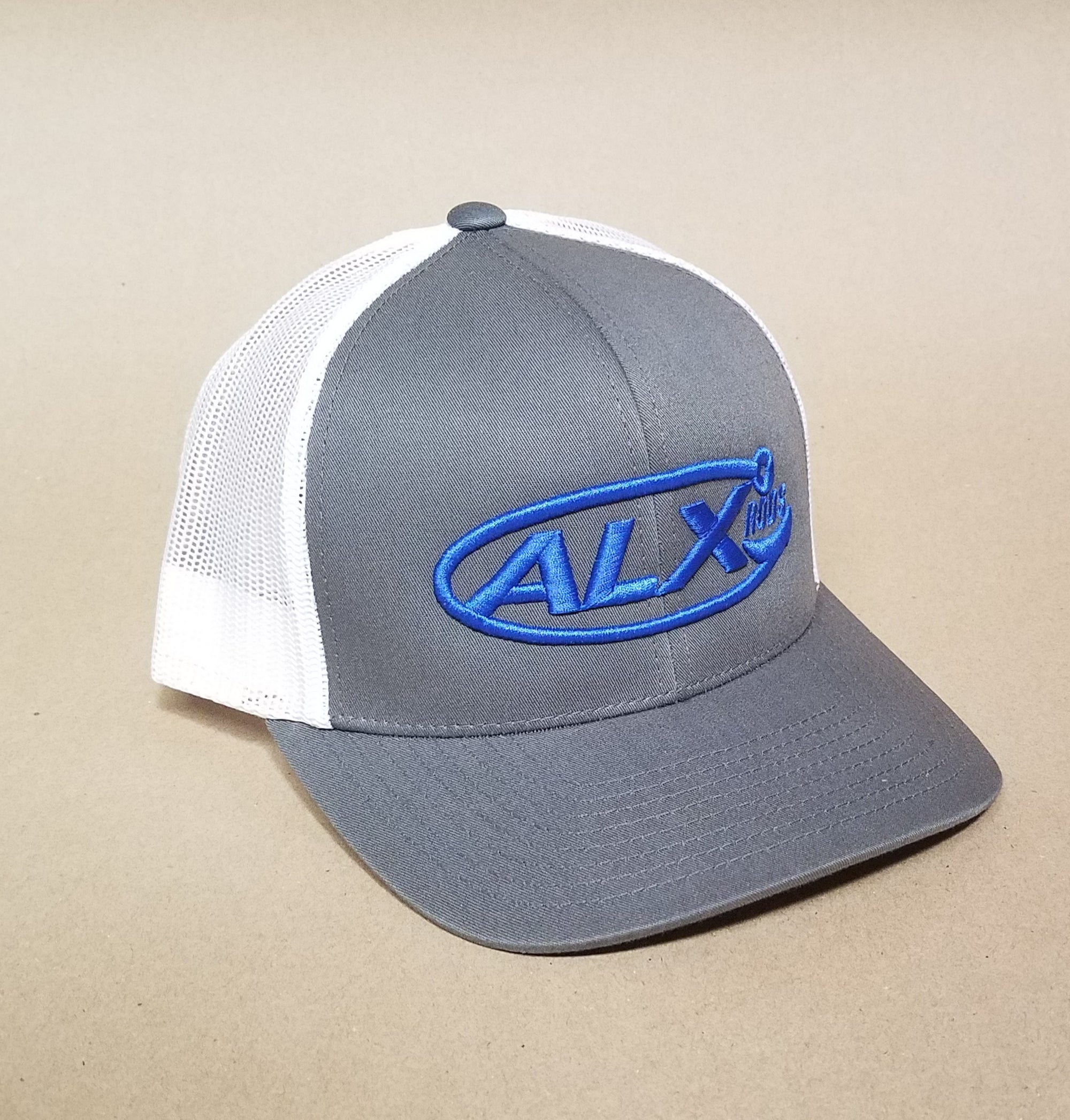 ALX Graphite/White Mesh Trucker Richardson Hat