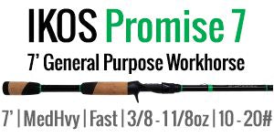 IKOS Promise 7 - 7' Medium Heavy, Fast, Casting