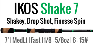 IKOS Shake 7 - 7', Medium Light, Fast Spinning