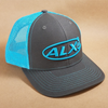 ALX Charcoal/Neon Blue Trucker Richardson Hat