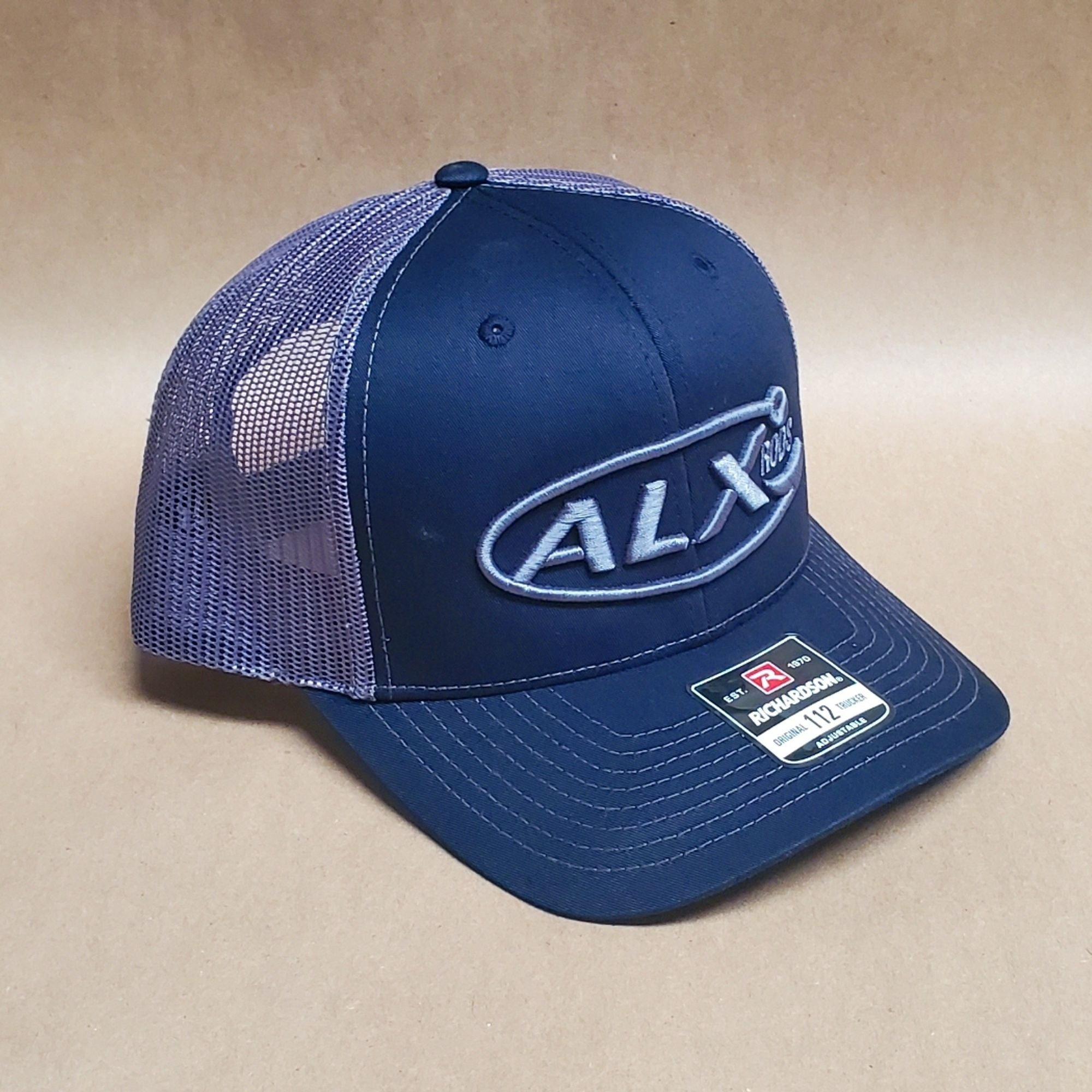 ALX Heather Navy/Charcoal Mesh Trucker Richardson Hat