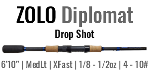 "ZOLO Diplomat - 6'10"", Medium Light, Fast Spinning"