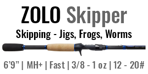 "ZOLO Skipper - 6'9"", Medium Heavy +, Fast Casting"