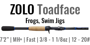 "ZOLO Toadface - 7'2"", Medium Heavy +, Fast Casting"