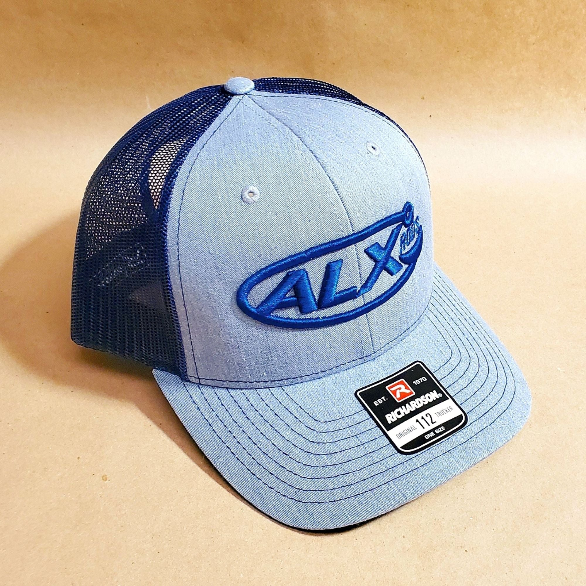 ALX Heather Grey/Navy Mesh Trucker Richardson Hat