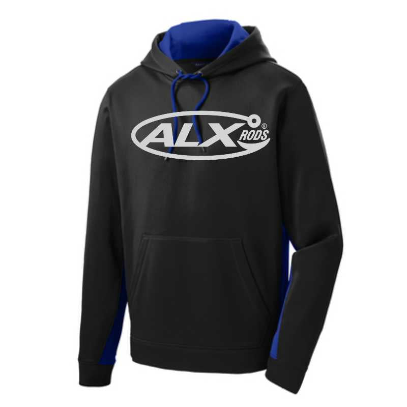 ALX Rods Performance Hoodie - Black/Royal Blue