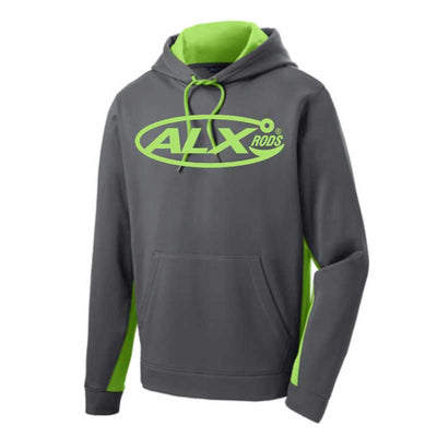 ALX Rods Performance Hoodie - Neon Green/Smoke Grey