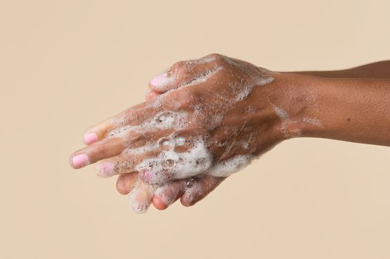 soapy hands | Get Dry Hands in Winter?