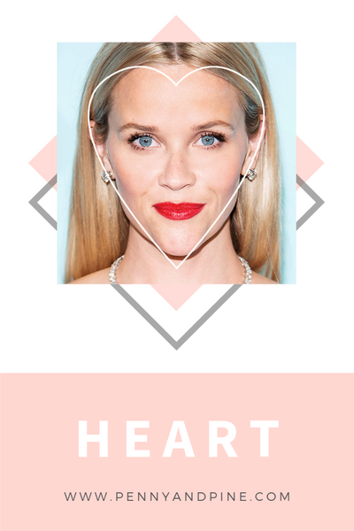 heart face shape | How to Find Your Face Shape
