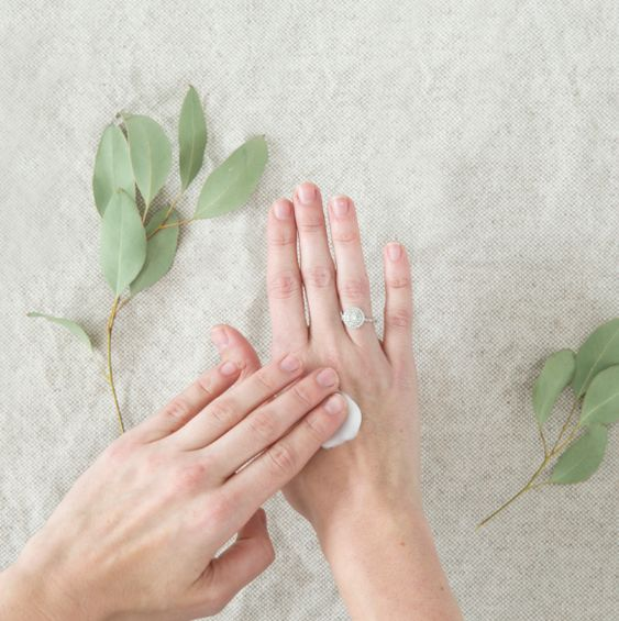 rubbing in hand cream | Get Dry Hands in Winter?
