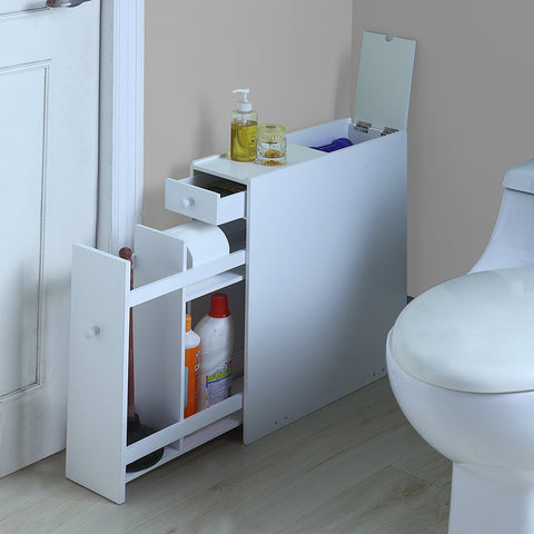 wooden floor cabinets | Small Bathroom Organization Products