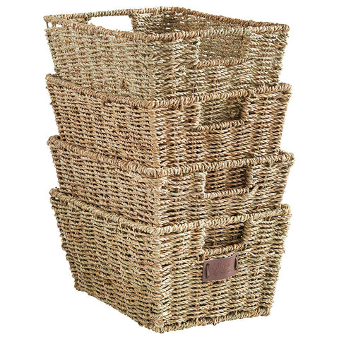 seagrass baskets for bathroom | Small Bathroom Organization Products