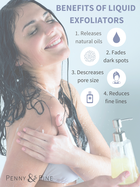 liquid exfoliant infographic | Benefits of Using Liquid Exfoliant