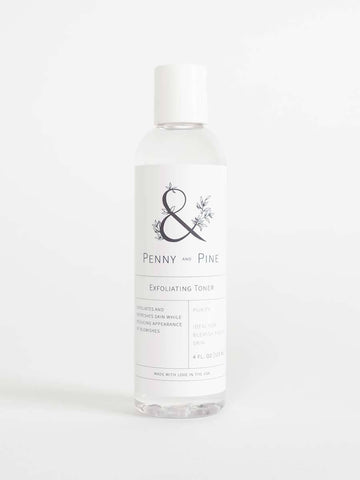 Penny and Pine Exfoliating Toner | The Ultimate Guide on How to Exfoliate
