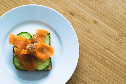 salmon and cucumbers | The Best Vitamins for Your Skin