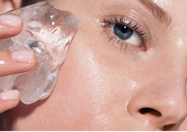 ice on skin | How to Pop a Zit