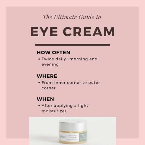 penny and pine how to apply to eye cream
