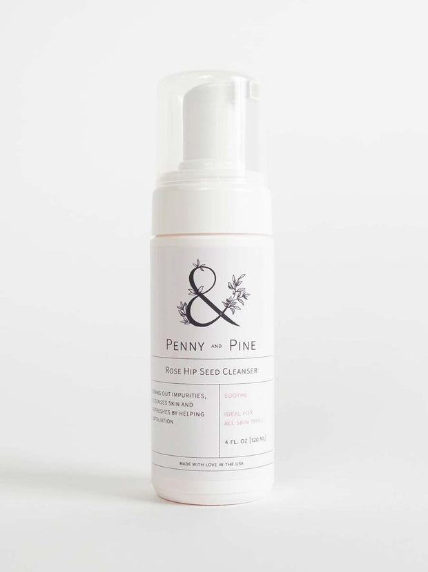 Face Wash for Oily Skin | Rose Hip Seed Cleanser by Penny & Pine