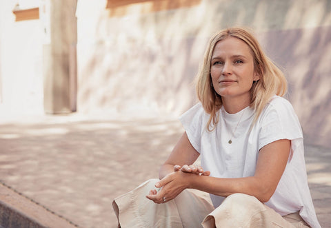 Elena Ekström - female founder and owner of sustainable bag brand Bukvy