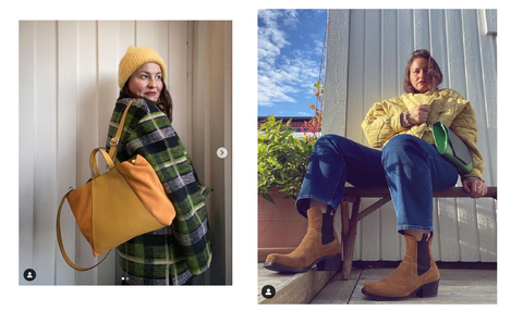 Yellow bag, multipurpose bags and accessories