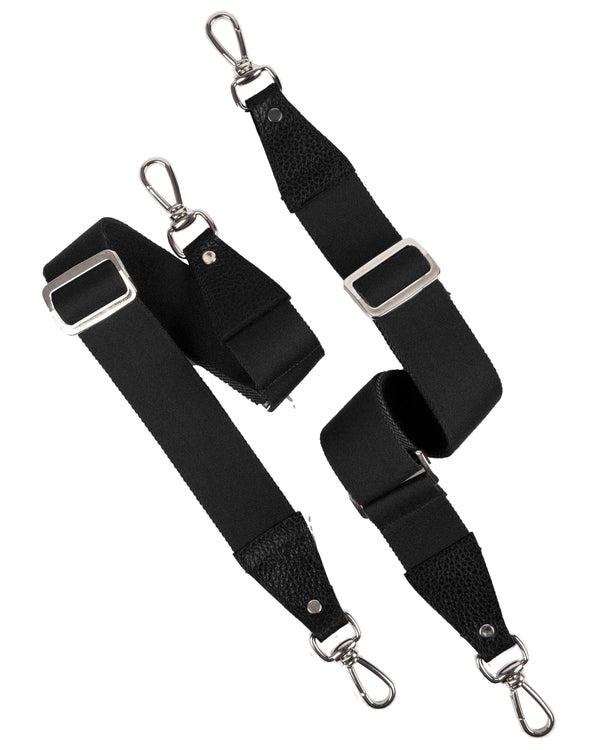 Nylon strap - Black, 2pcs for Backpacks