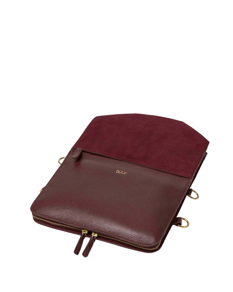 Purple multifunctional lap top case with gold details