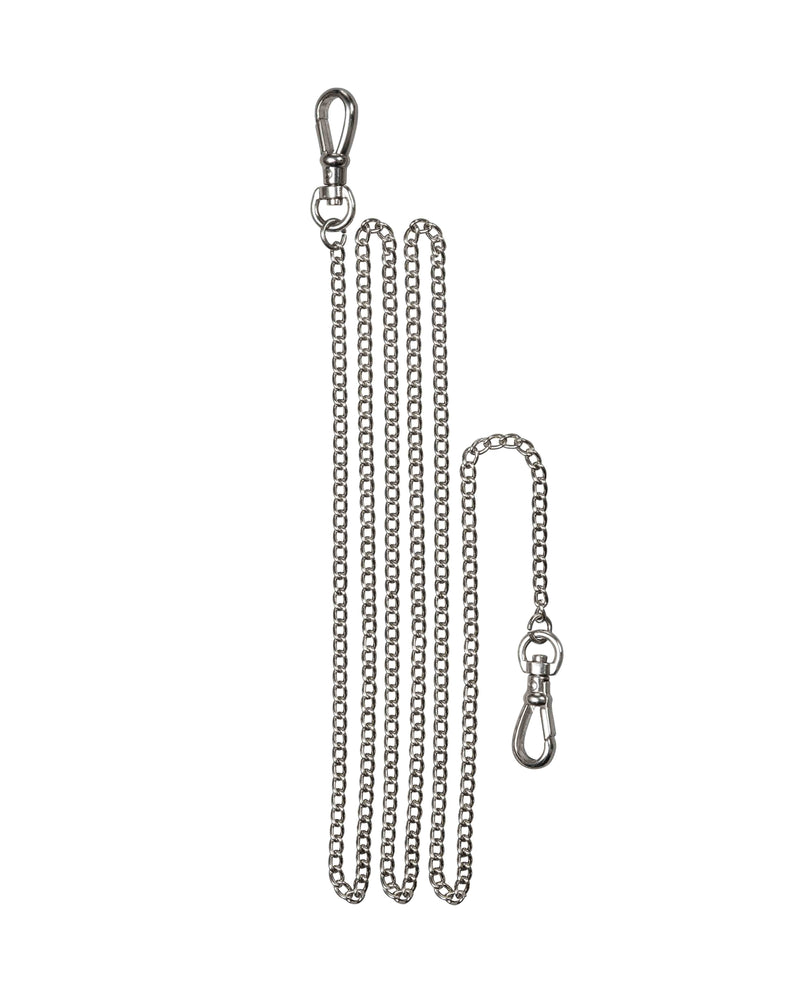 Silver plated long metal chain