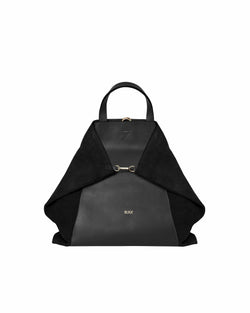 Black multifunctional bag with gold details