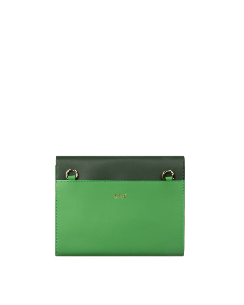 Kahlo Maxi Wallet - Jade on Green