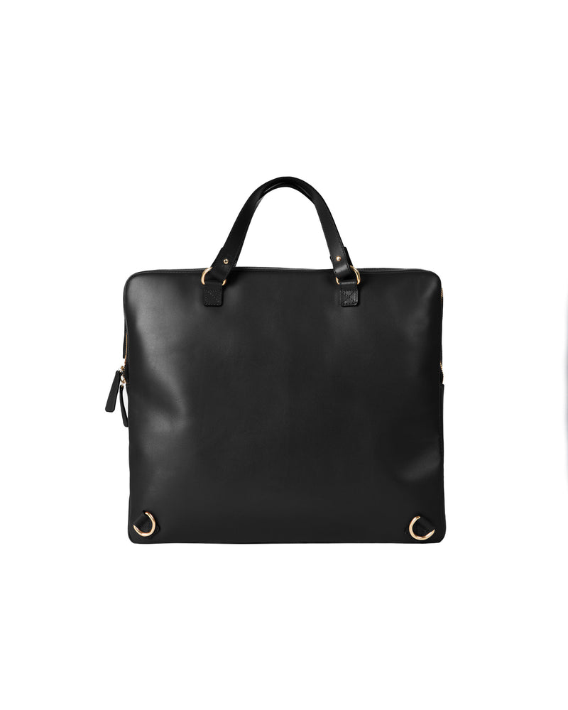 Back on black multifunctional bag with gold details
