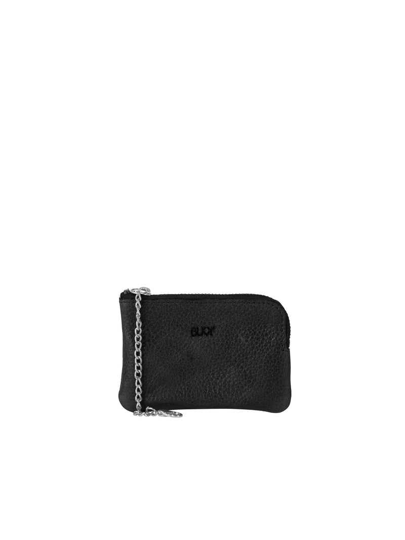 Small black wallet with silver details