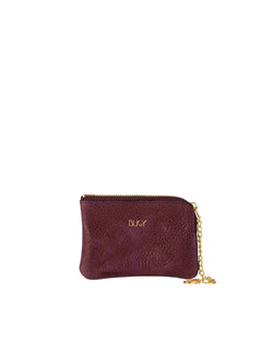 Small purple wallet with gold details
