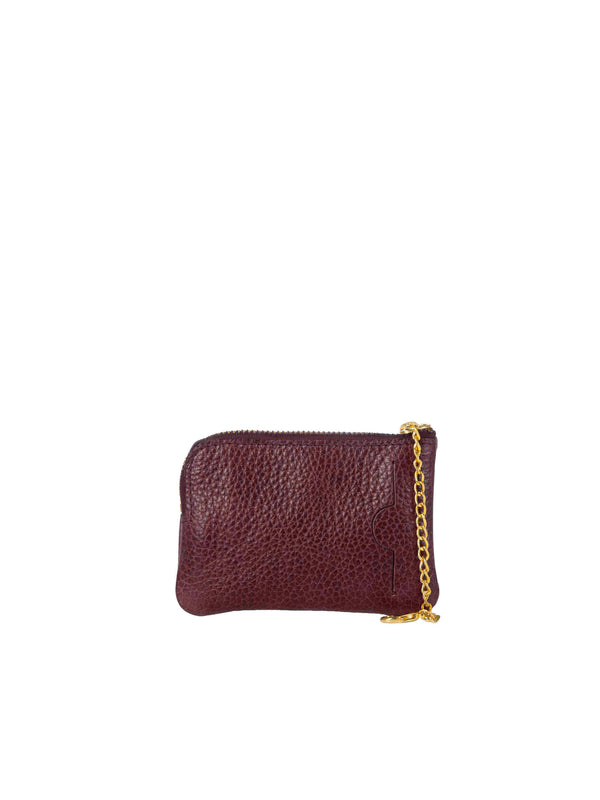 Back on purple wallet with gold details