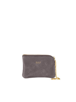 Small grey wallet with gold details